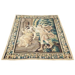 Aubusson French Tapestry, 17th Century, Perfect Condition