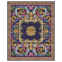 Aubusson Heraldy Heritage - Colorful Luxury Hand Knotted Silk Rug