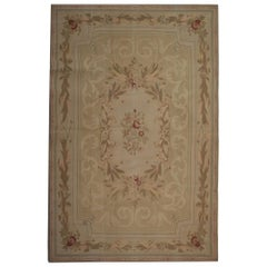 Aubusson Style Carpet Needlepoint Handwoven Chinese Rug French