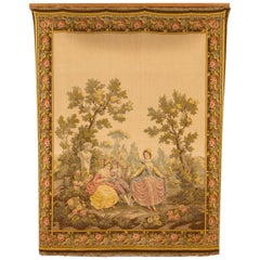 Aubusson Style French Tapestry, Mid 20th Century