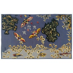 "Aubusson Tapestry by Jean Lurçat ""Moth"" Woven in the Tabard Frères et Sœurs Work"
