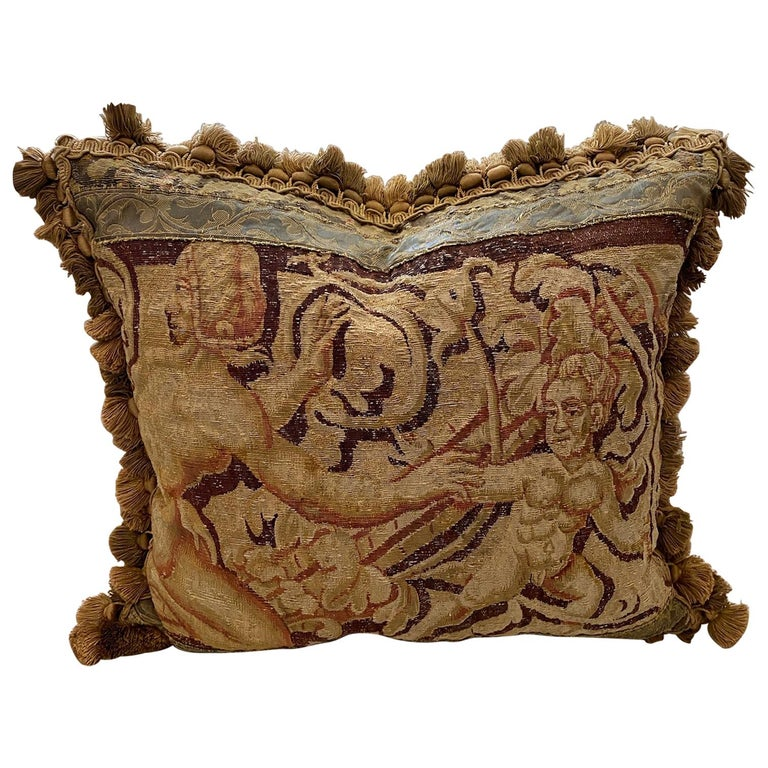 Aubusson Tapestry Cushion For Sale