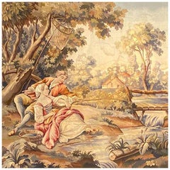 Aubusson Tapestry Depicting a Pastoral Scene, French, circa 1900