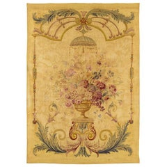 Aubusson Tapestry with a Vase of Flowers, 19th Century