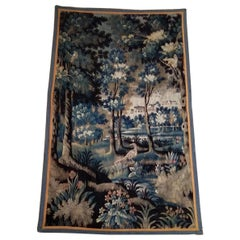 Aubusson Verdure French Tapestry, 17th Century, Perfect Condition