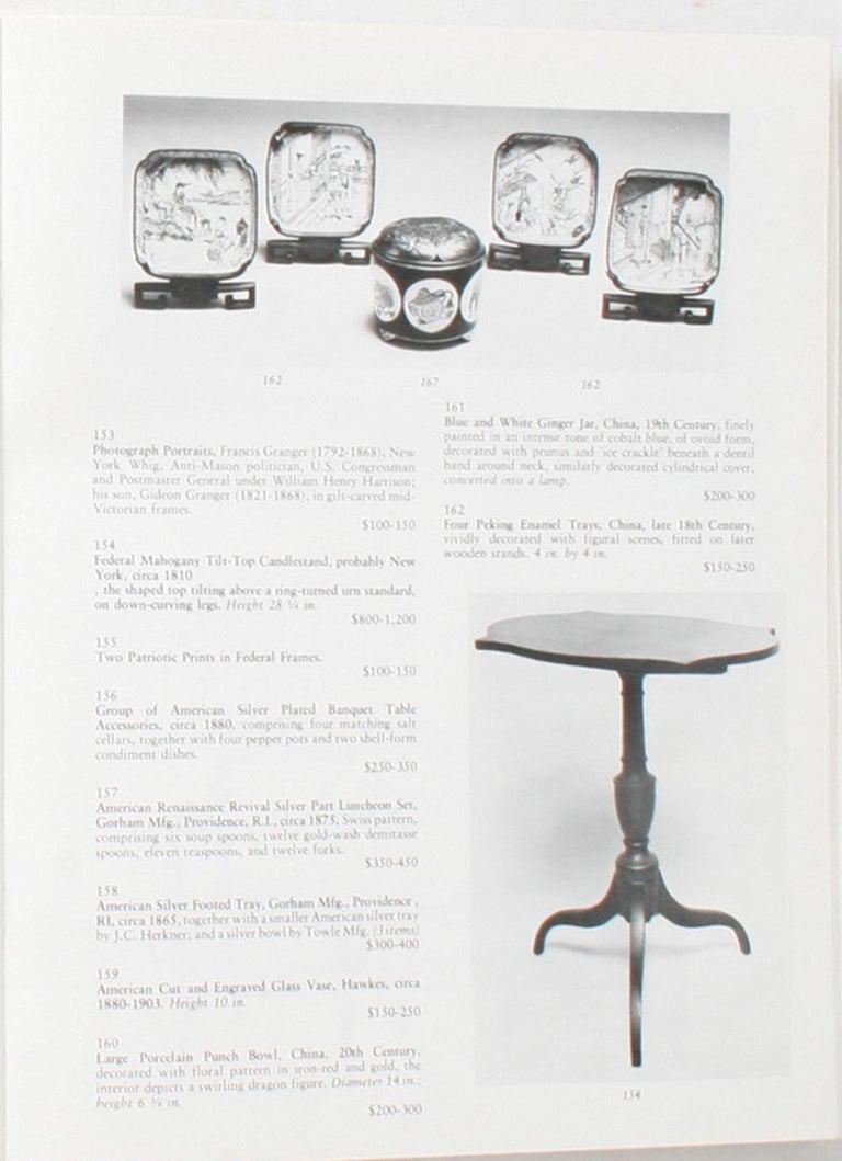 Auction Catalogue for The Collections of Cornelia Van Rensselaer Hartman For Sale 5