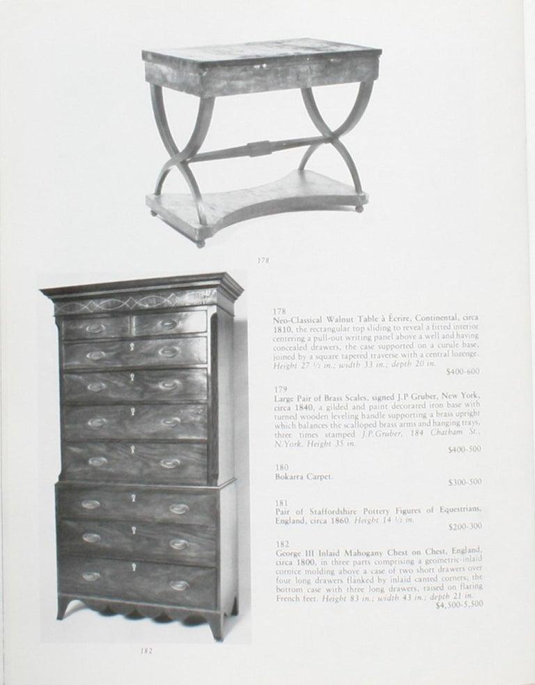 Auction Catalogue for The Collections of Cornelia Van Rensselaer Hartman For Sale 7