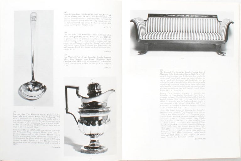 20th Century Auction Catalogue for The Collections of Cornelia Van Rensselaer Hartman For Sale