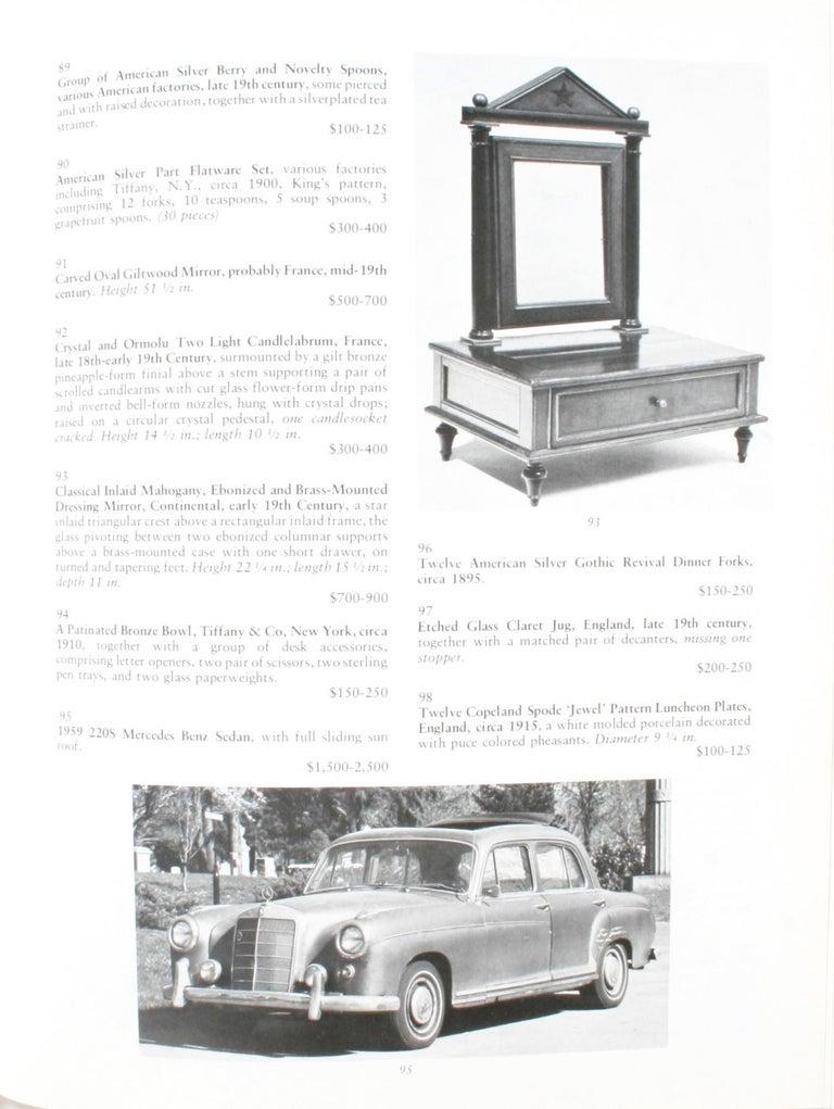 Auction Catalogue for The Collections of Cornelia Van Rensselaer Hartman For Sale 4