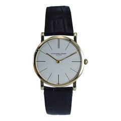 Audemars Piguet 18 Karat Yellow Gold Ultra Thin Dress Watch, circa 1960s