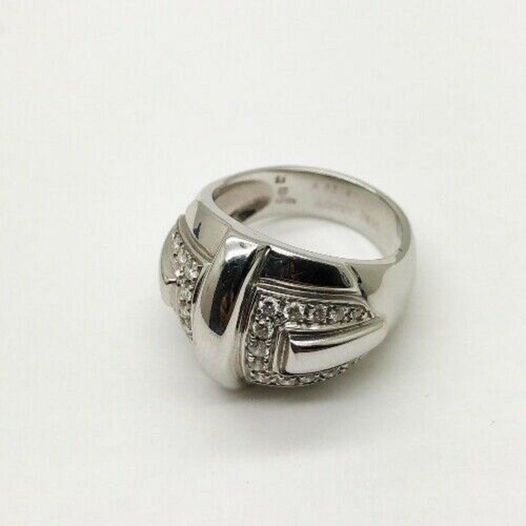 Contemporary Audemars Piguet 18 Karat White Gold Ladies Large Diamond Ring For Sale