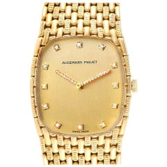 Audemars Piguet 18 Karat Yellow Gold Diamond Unisex Watch 40154