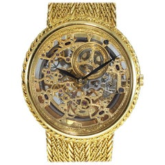 Audemars Piguet 18Kt Yellow Gold Automatic Skeleton Bracelet Watch, circa 1980s