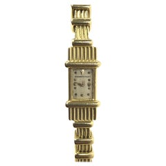 Audemars Piguet 1940s Retro Yellow Gold Back Wind Mechanical Bracelet Watch