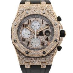 Audemars Piguet 26178 Royal Oak Offshore 18 Karat Rose Gold Diamond Watch