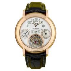 Audemars Piguet A Rare Pink Gold Automatic Tourbillon Wristwatch