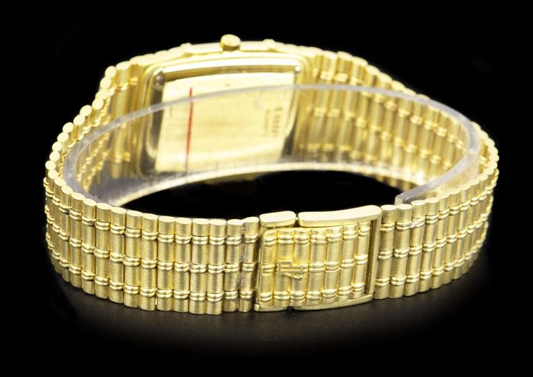 Audemars Piguet Bamboo Vintage Gold Champagne Tapestry Dial Quartz Wristwatch 1