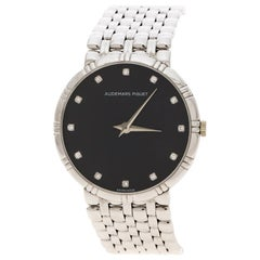 Audemars Piguet Black Dial 18K White Gold And Diamonds Women's Wristwatch 31 mm