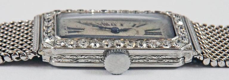 Art Deco Audemars Piguet by J.E. Caldwell Ladies Platinum Diamond Manual Wristwatch For Sale