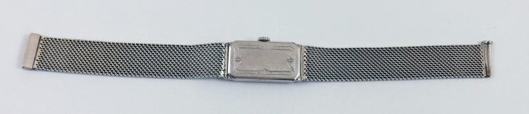 Women's or Men's Audemars Piguet by J.E. Caldwell Ladies Platinum Diamond Manual Wristwatch For Sale