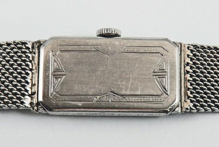 Audemars Piguet by J.E. Caldwell Ladies Platinum Diamond Manual Wristwatch For Sale 1