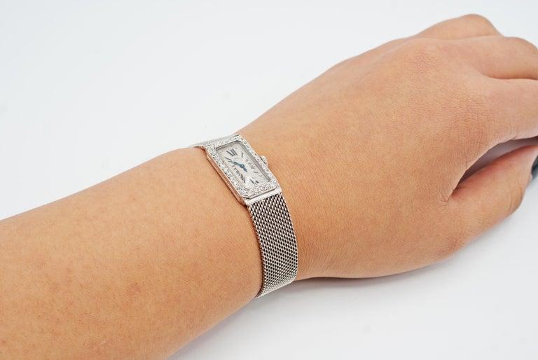 Audemars Piguet by J.E. Caldwell Ladies Platinum Diamond Manual Wristwatch For Sale 3