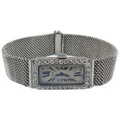 Audemars Piguet by J.E. Caldwell Ladies Platinum Diamond Manual Wristwatch