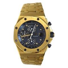 Audemars Piguet Chronograph Royal Oak Offshore 18 Karat Yellow Gold Watch