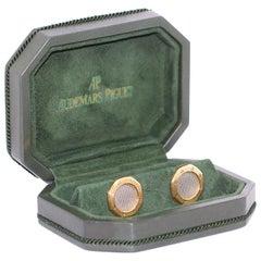Audemars Piguet Cufflinks in Original Box, Gerald Genta's Royal Oak Design