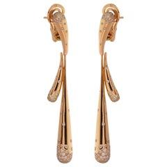 Audemars Piguet Diamond Rose Gold Drop Earrings
