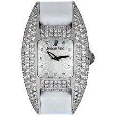 Audemars Piguet Dream Ladies Silver Guilloche Dial Diamond Set Watch