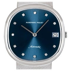 Audemars Piguet Dress Watch White Gold Blue Diamond Dial Automatic