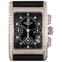 Audemars Piguet Edward Piguet Black Dial Diamond Set Watch