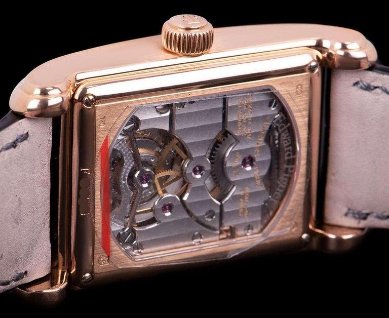 Audemars Piguet Edward Piguet Tourbillon Gents Rose Gold Silver Dial B&P For Sale 3