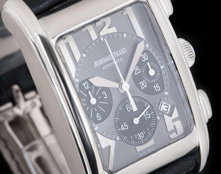 Audemars Piguet Edward Piguet White Gold Grey Guilloche Dial 25987 Automatic In Excellent Condition For Sale In London, GB