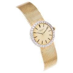 Audemars Piguet Gold Ladies Diamond Bezel Wristwatch