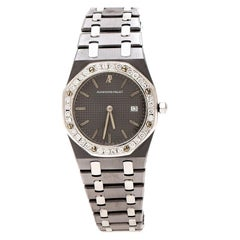 Audemars Piguet Grey Tantalum Stainless Steel Diamond Women's Wristwatch 33 mm