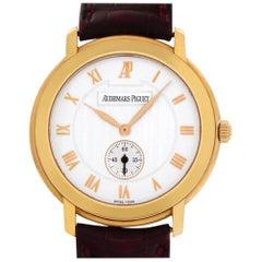 Audemars Piguet Jules Audemars 15056OR.OO.A067CR.02 18k Rose Gold Silver Dial 36