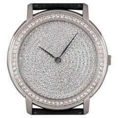 Audemars Piguet Jules Audemars White Gold Pave Diamond Dial Diamond Set Watch