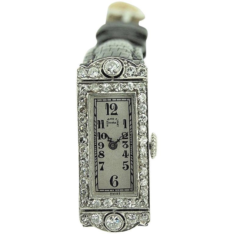Audemars Piguet Ladies Platinum Art Deco Dress Watch, circa 1930s