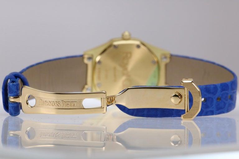 Audemars Piguet Ladies Yellow Gold Royal Oak Quartz Wristwatch For Sale 6