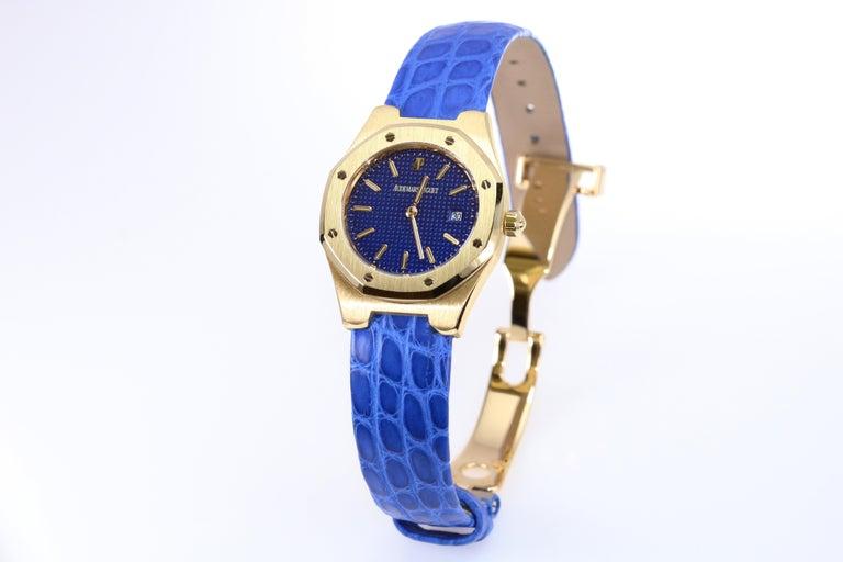 Women's Audemars Piguet Ladies Yellow Gold Royal Oak Quartz Wristwatch For Sale