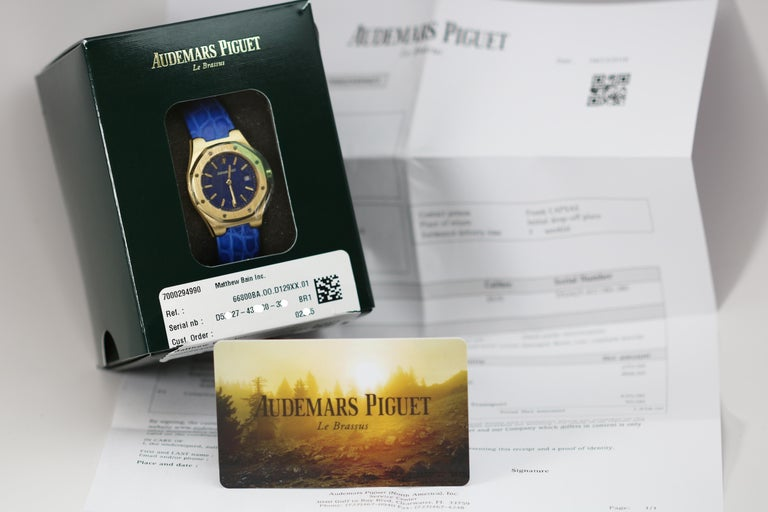 Audemars Piguet Ladies Yellow Gold Royal Oak Quartz Wristwatch For Sale 2