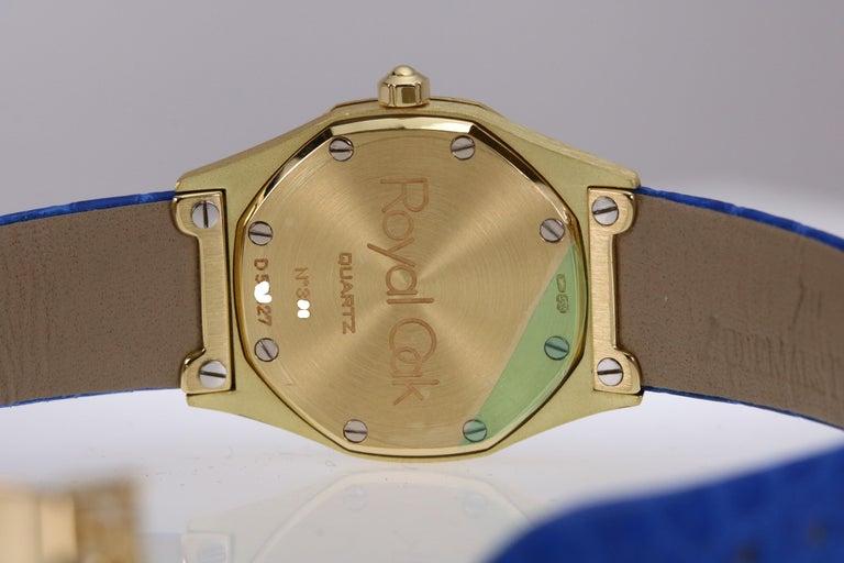 Audemars Piguet Ladies Yellow Gold Royal Oak Quartz Wristwatch For Sale 4