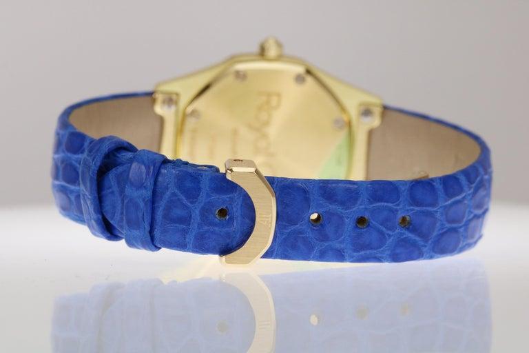 Audemars Piguet Ladies Yellow Gold Royal Oak Quartz Wristwatch For Sale 5