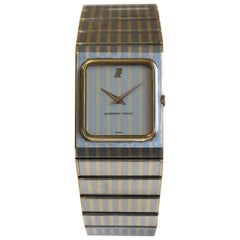Audemars Piguet Men's Stainless and 18 Karat Yellow Gold Rectangular Ultra Slim