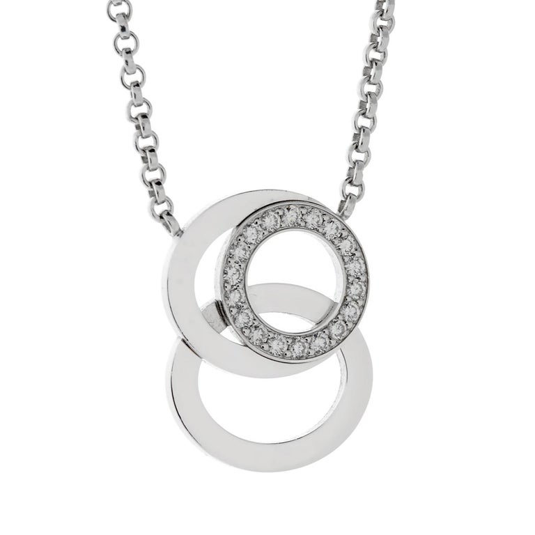 Audemars Piguet Millenary Diamond White Gold Necklace In New Condition For Sale In Feasterville, PA