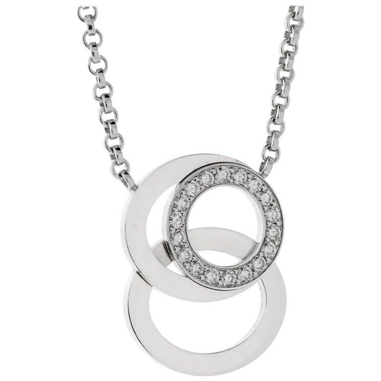 Audemars Piguet Millenary Diamond White Gold Necklace For Sale