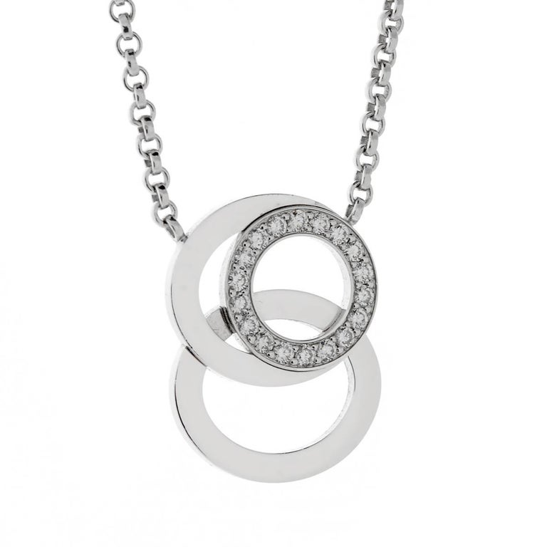 Audemars Piguet Millenary Diamond White Gold Necklace For Sale