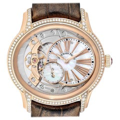 Audemars Piguet Millenary Rose Gold MOP Diamond Ladies Watch 77247OR